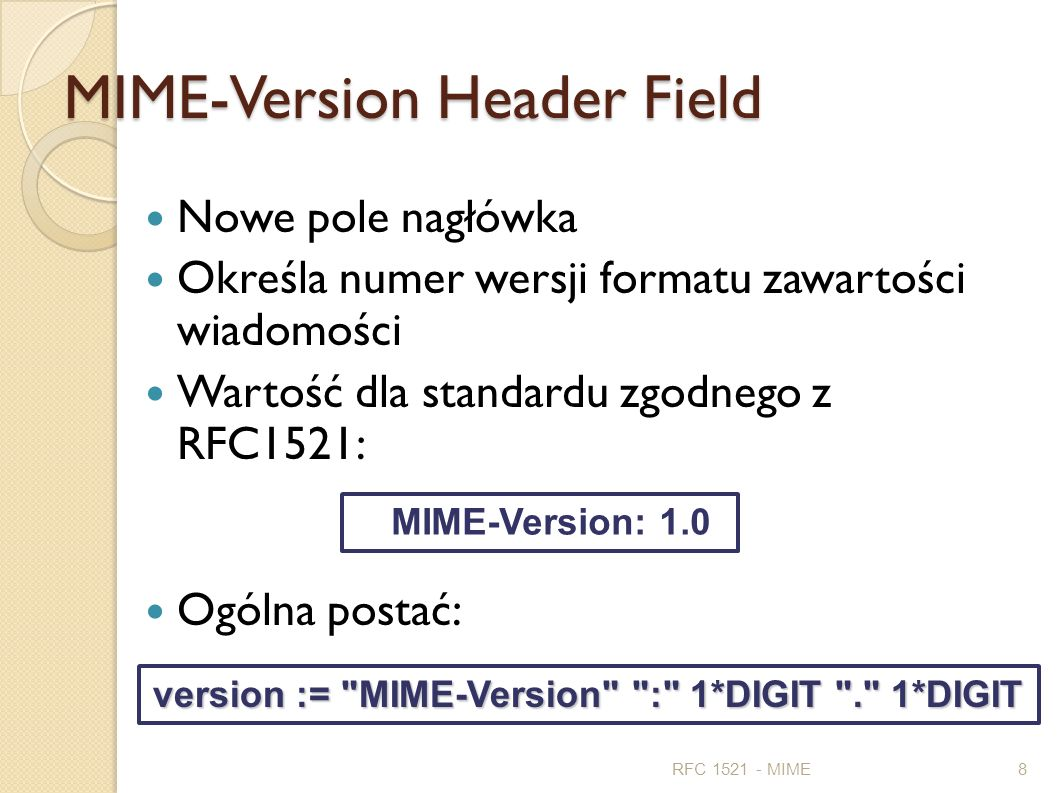MIME-Version Header Field