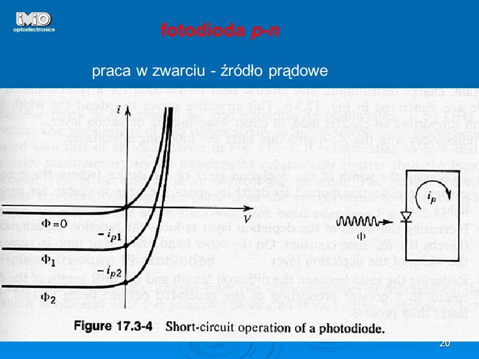 optoelectronics fotodioda p-n praca w zwarciu - źródło prądowe
