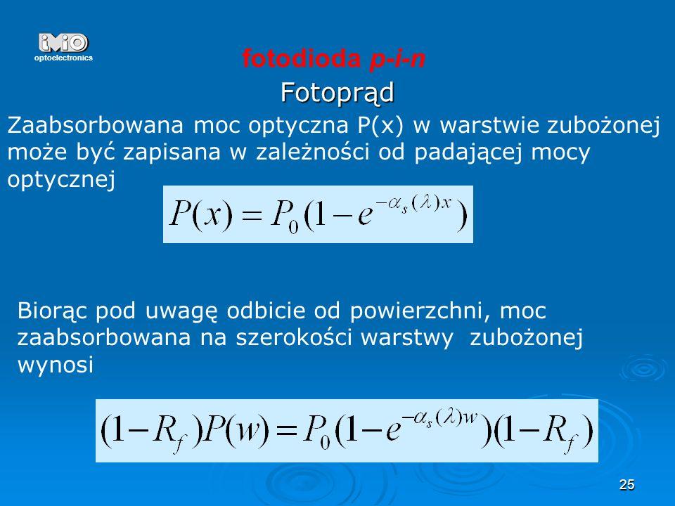 fotodioda p-i-n Fotoprąd