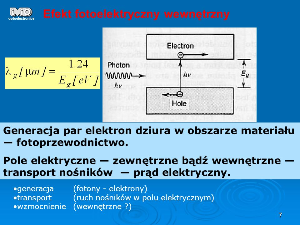 Efekt fotoelektryczny wewnętrzny