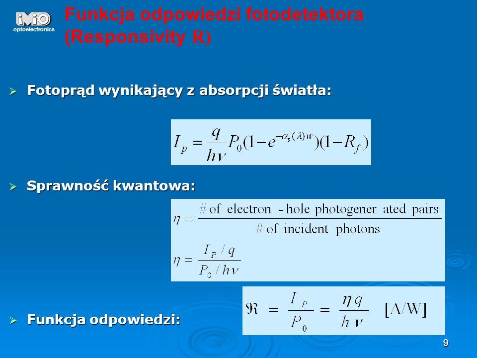 Funkcja odpowiedzi fotodetektora (Responsivity R)