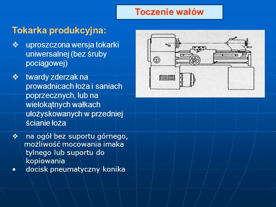 Toczenie wałów Tokarka produkcyjna: