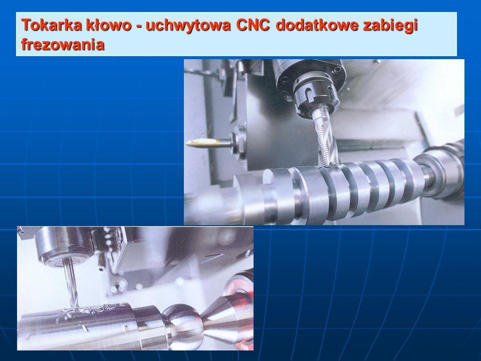 Tokarka kłowo - uchwytowa CNC dodatkowe zabiegi frezowania