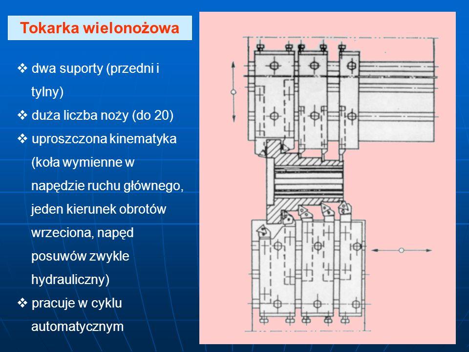 Tokarka wielonożowa dwa suporty (przedni i tylny)