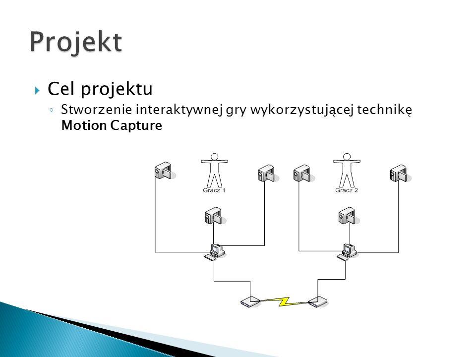 Projekt Cel projektu Stworzenie interaktywnej gry wykorzystującej technikę Motion Capture