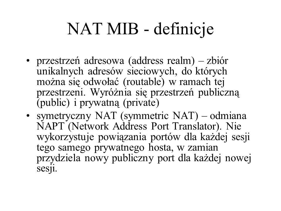 NAT MIB - definicje