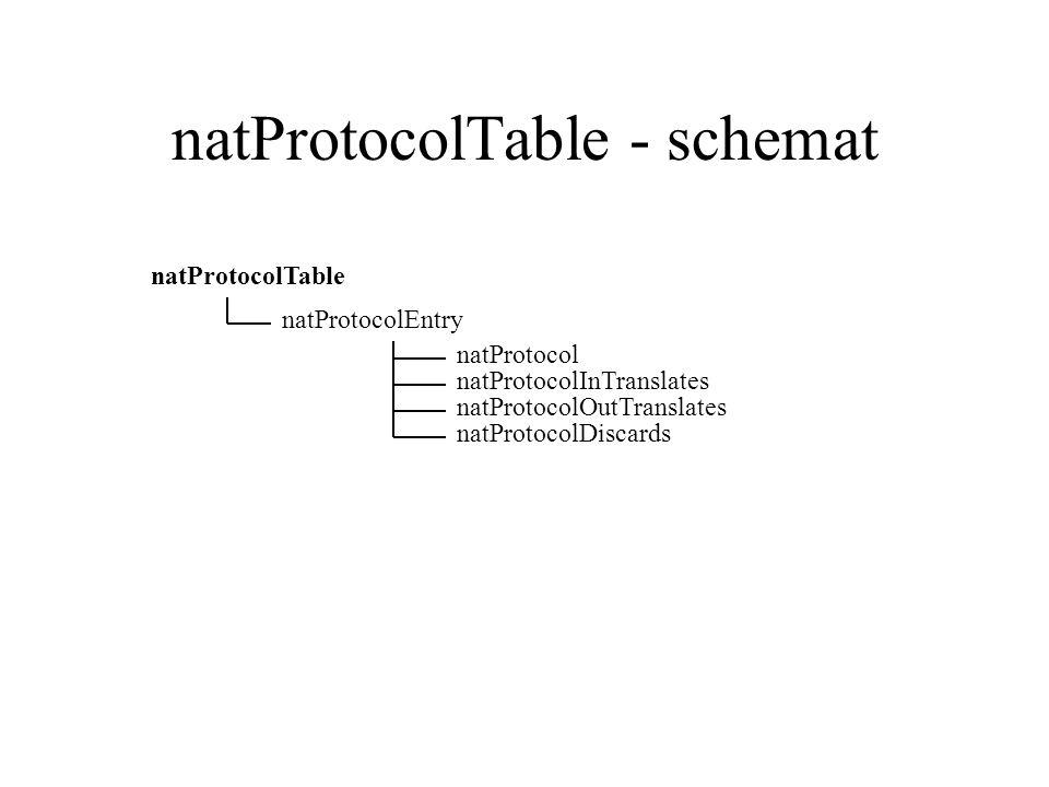 natProtocolTable - schemat