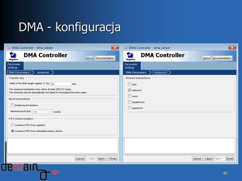 DMA - konfiguracja