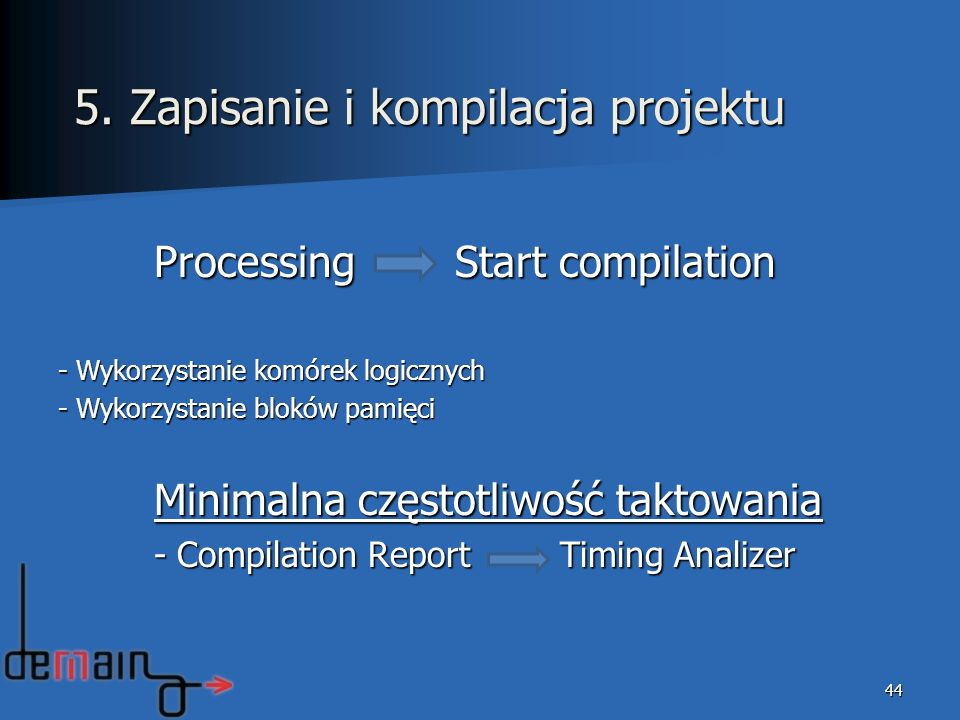 5. Zapisanie i kompilacja projektu