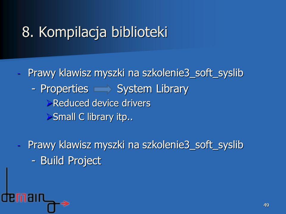 8. Kompilacja biblioteki