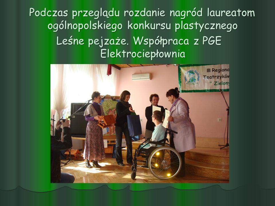Podczas przeglądu rozdanie nagród laureatom ogólnopolskiego konkursu plastycznego Leśne pejzaże.