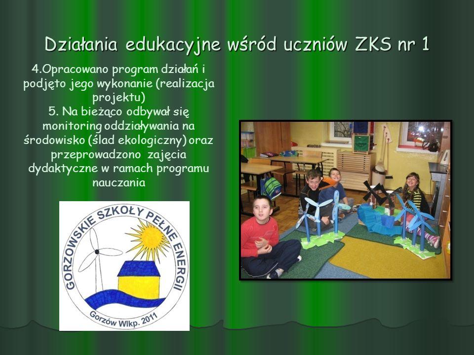 Działania edukacyjne wśród uczniów ZKS nr 1