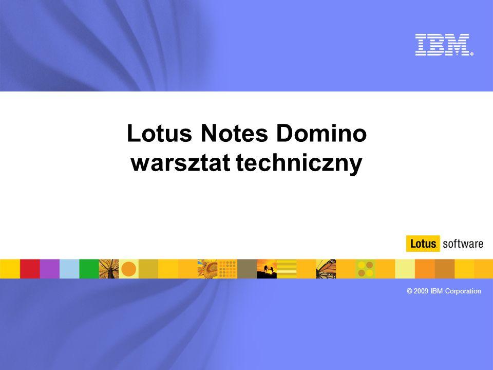 Lotus Notes Domino warsztat techniczny