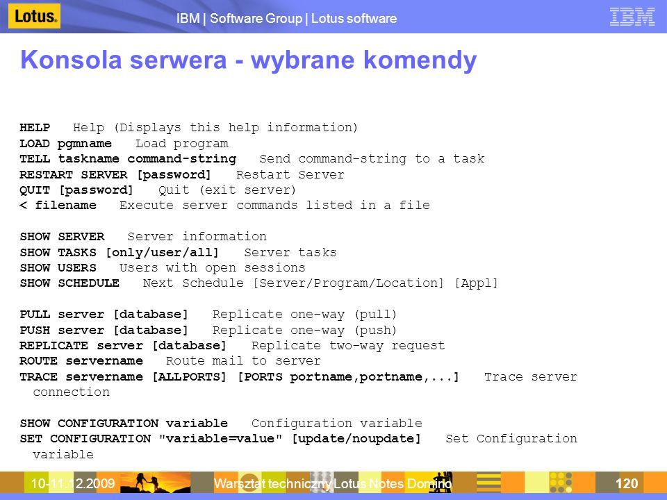 Konsola serwera - wybrane komendy