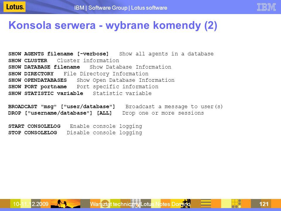 Konsola serwera - wybrane komendy (2)