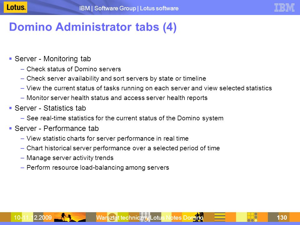 Domino Administrator tabs (4)