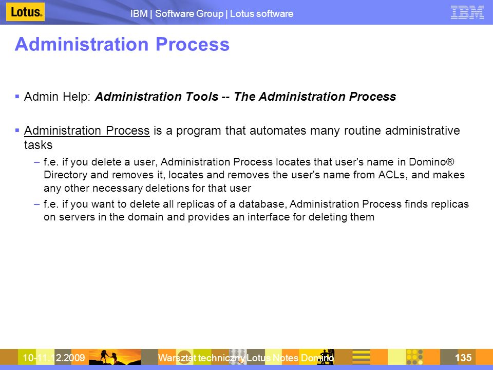 Administration Process