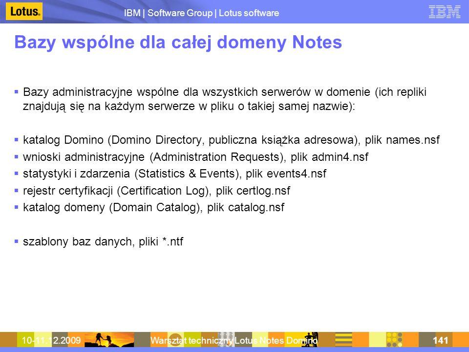 Bazy wspólne dla całej domeny Notes