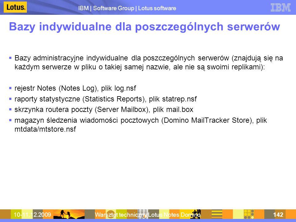 Bazy indywidualne dla poszczególnych serwerów