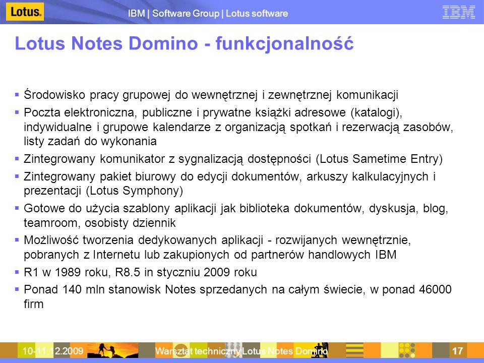 Lotus Notes Domino - funkcjonalność