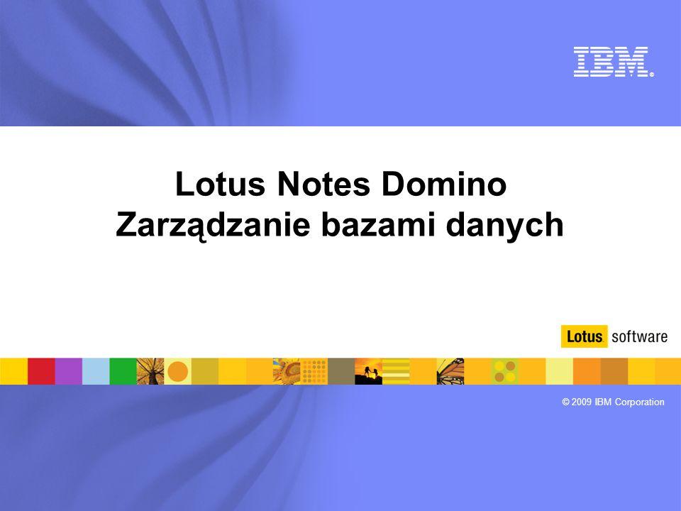 Lotus Notes Domino Zarządzanie bazami danych