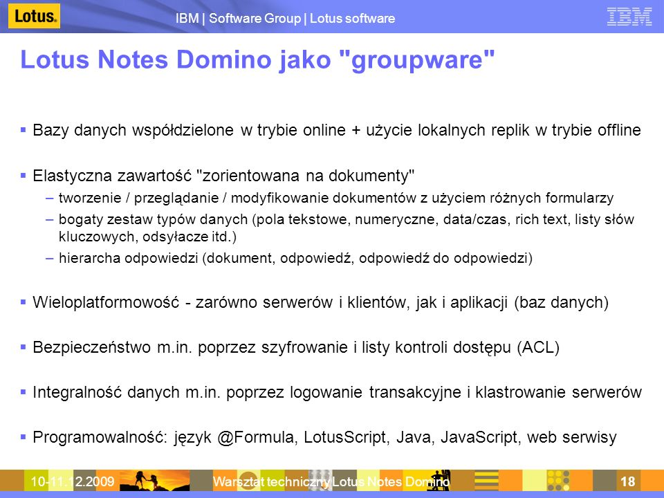 Lotus Notes Domino jako groupware