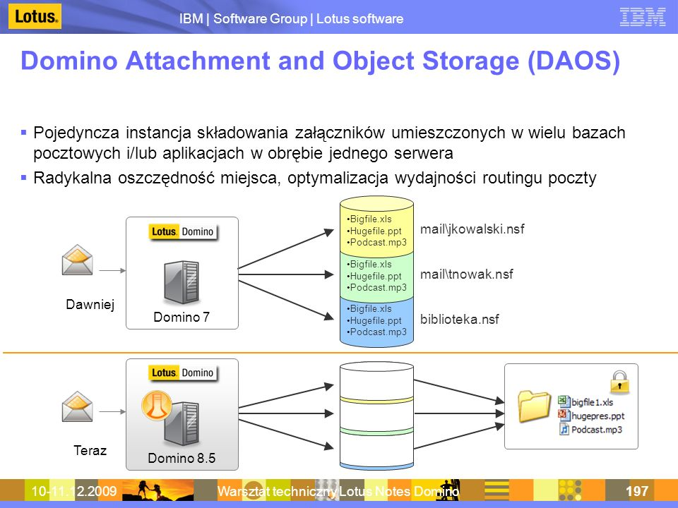 Domino Attachment and Object Storage (DAOS)