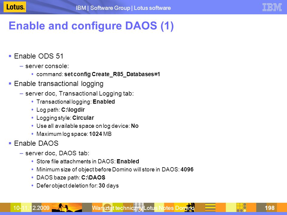 Enable and configure DAOS (1)