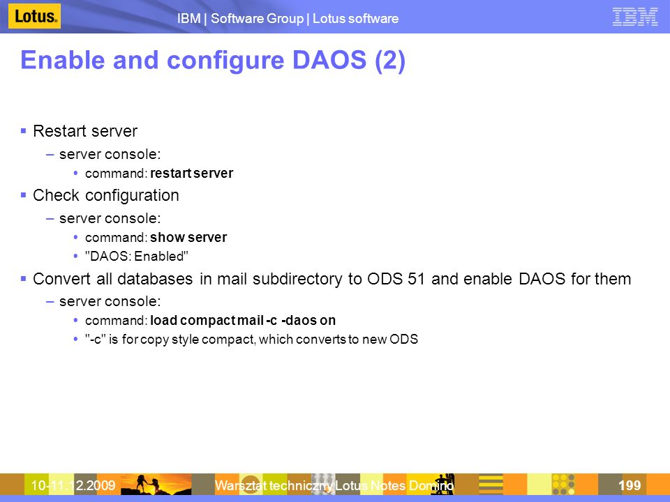 Enable and configure DAOS (2)