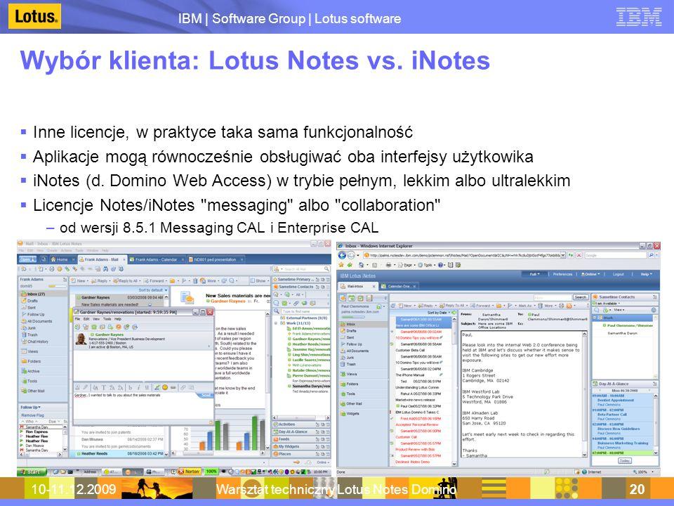 Wybór klienta: Lotus Notes vs. iNotes