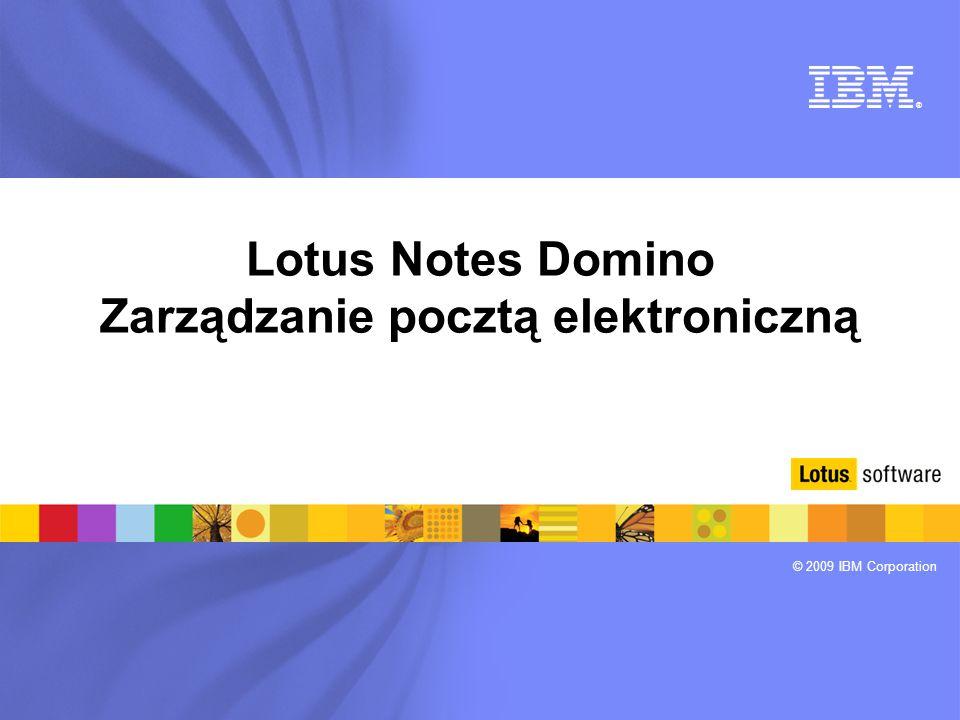 Lotus Notes Domino Zarządzanie pocztą elektroniczną