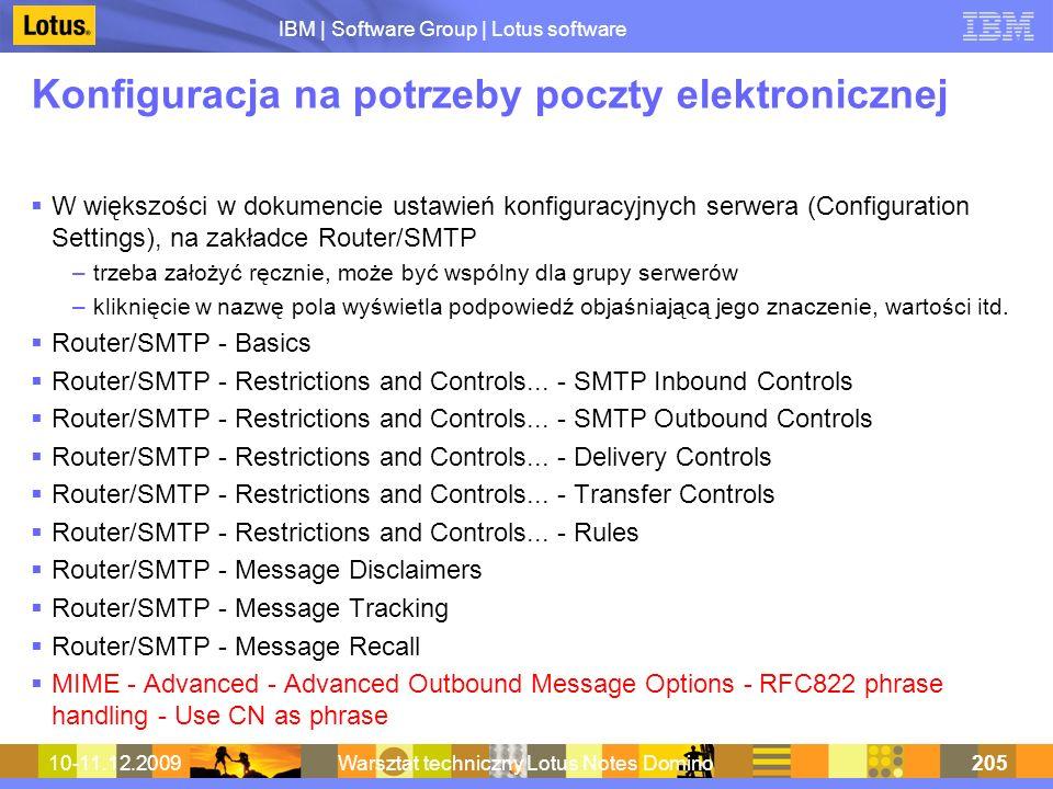 Konfiguracja na potrzeby poczty elektronicznej