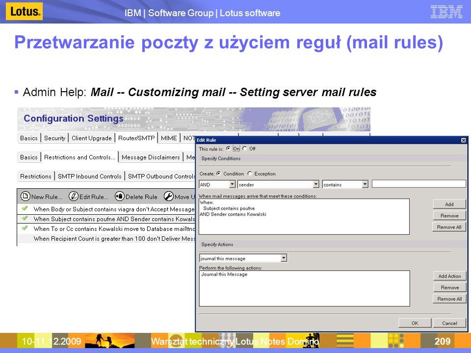 Przetwarzanie poczty z użyciem reguł (mail rules)