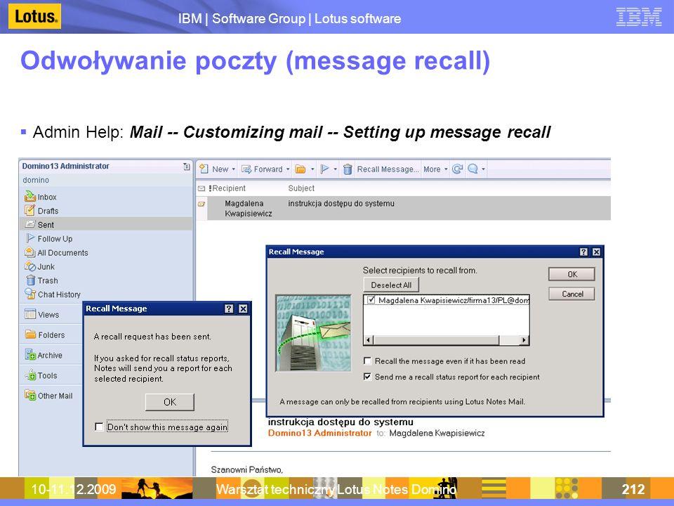 Odwoływanie poczty (message recall)