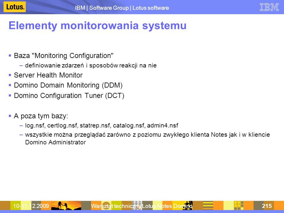Elementy monitorowania systemu