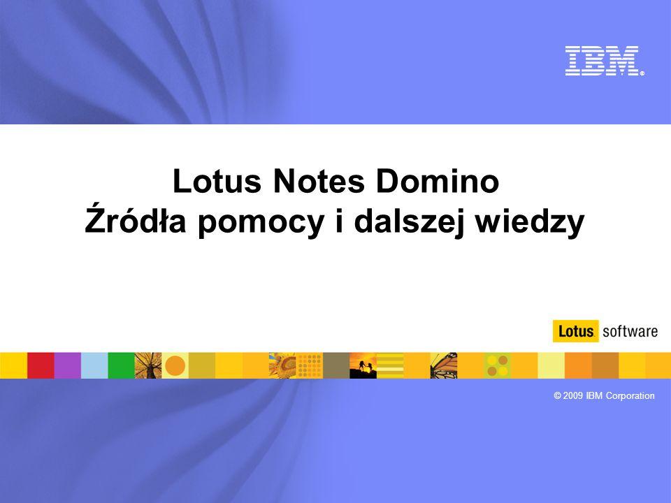 Lotus Notes Domino Źródła pomocy i dalszej wiedzy