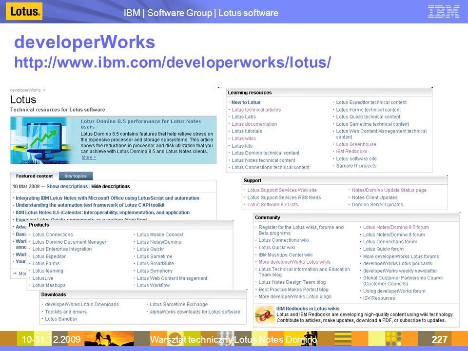 developerWorks http://www.ibm.com/developerworks/lotus/