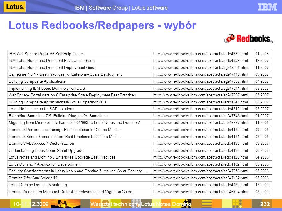 Lotus Redbooks/Redpapers - wybór