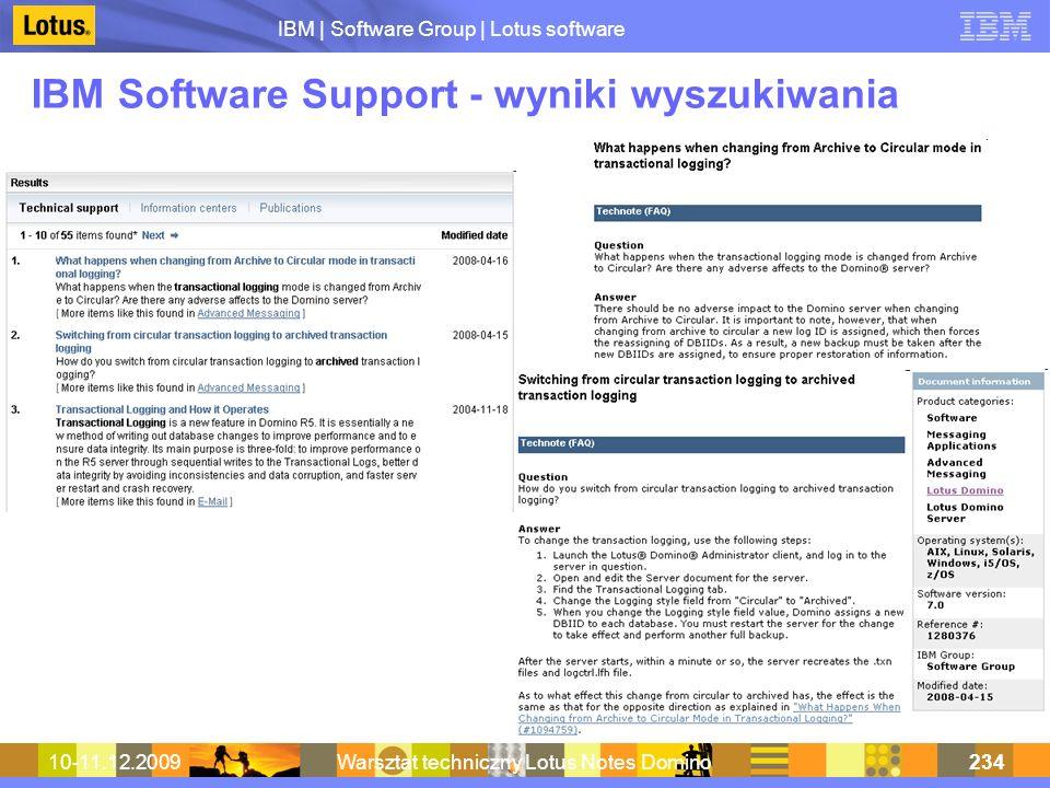 IBM Software Support - wyniki wyszukiwania