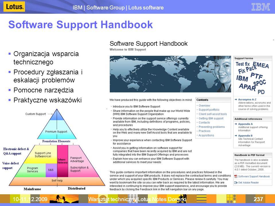 Software Support Handbook