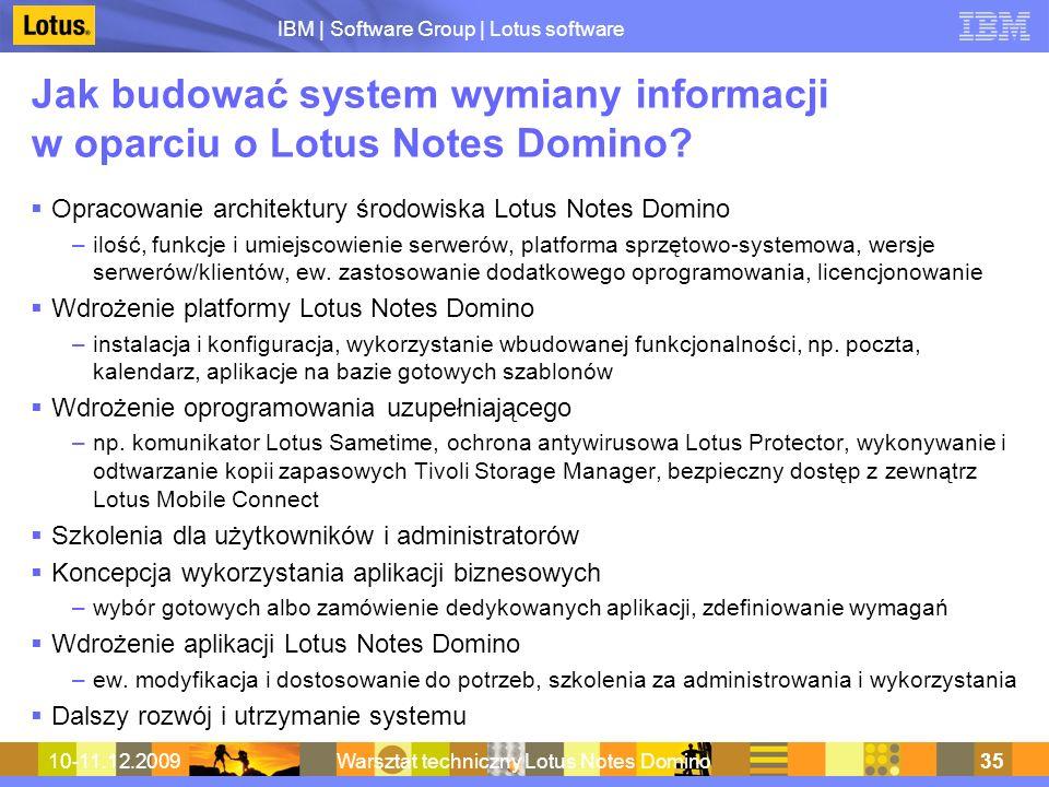 Jak budować system wymiany informacji w oparciu o Lotus Notes Domino