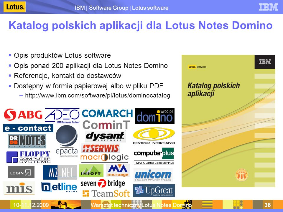 Katalog polskich aplikacji dla Lotus Notes Domino