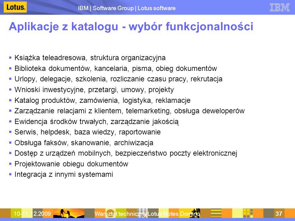Aplikacje z katalogu - wybór funkcjonalności