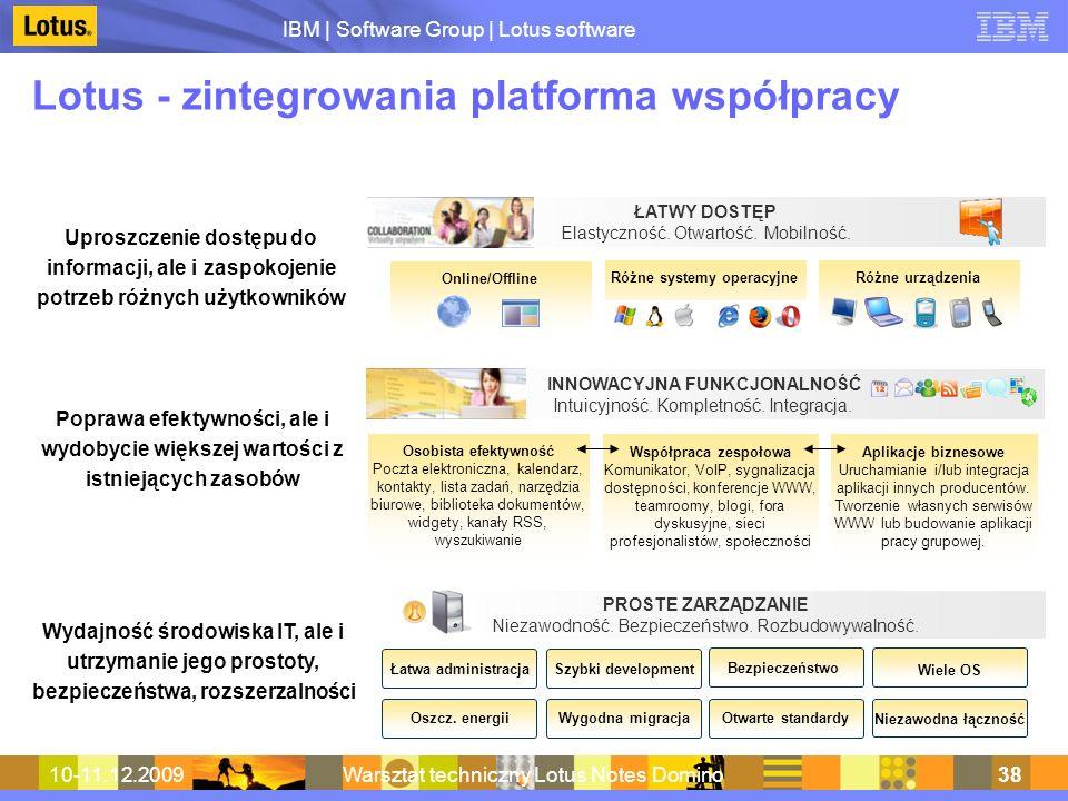 Lotus - zintegrowania platforma współpracy