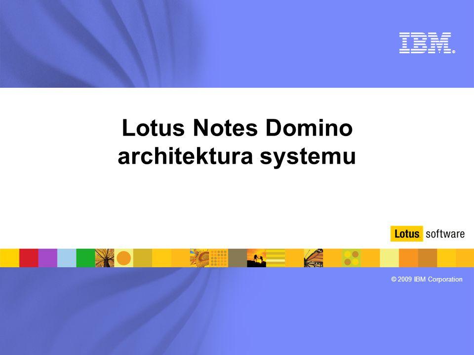 Lotus Notes Domino architektura systemu