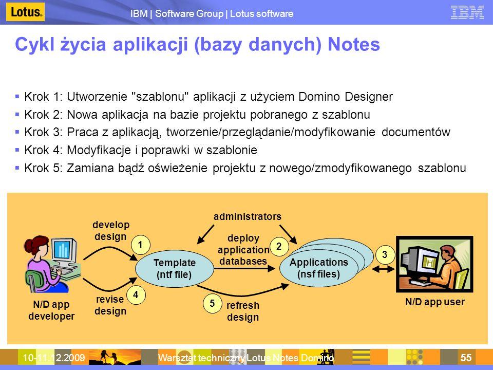 Cykl życia aplikacji (bazy danych) Notes
