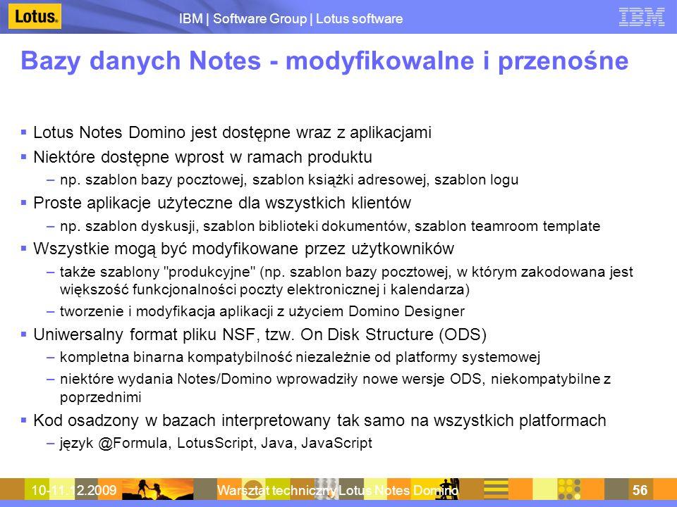 Bazy danych Notes - modyfikowalne i przenośne