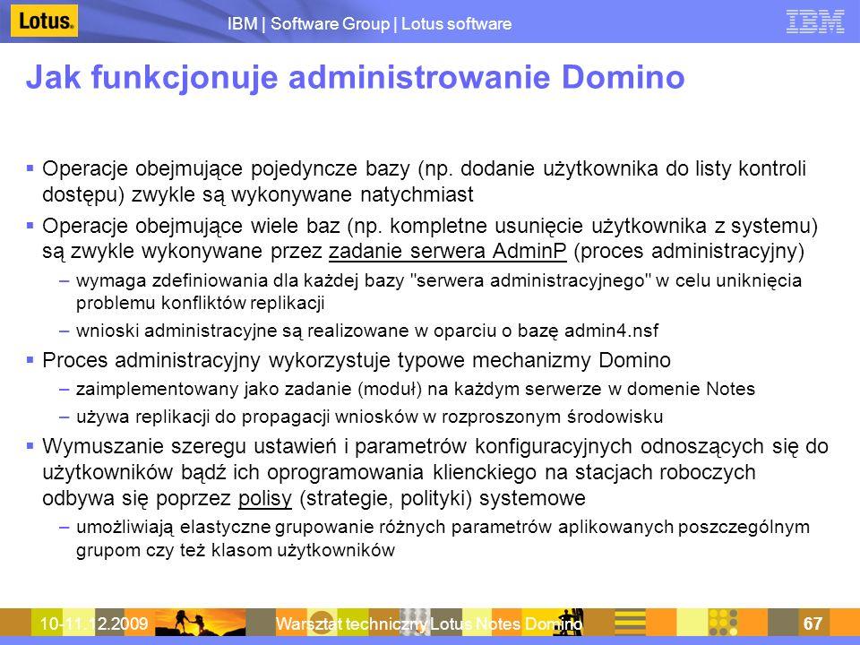Jak funkcjonuje administrowanie Domino