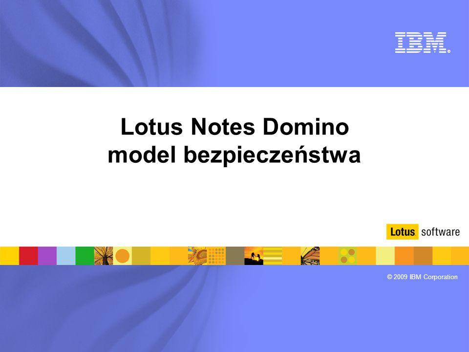 Lotus Notes Domino model bezpieczeństwa