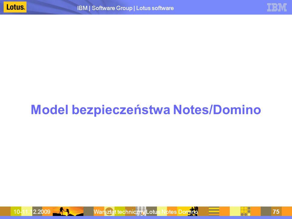 Model bezpieczeństwa Notes/Domino